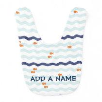 Cute Goldfish Pattern Customized Bib