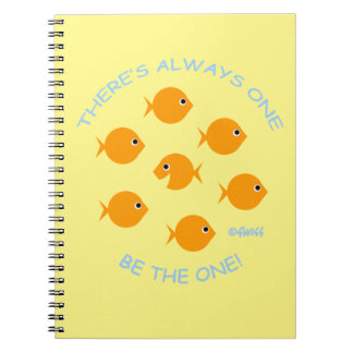 Cute Goldfish with Inspirational Teacher Motto Notebook