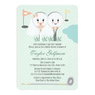 Cute Golf Ball and Tee Bride Groom Bridal Shower Card