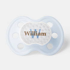 Cute Golf Ball Monogram Pacifier at Zazzle