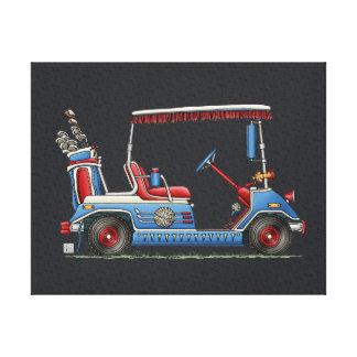 Cute Golf Cart Canvas Print