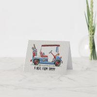 Cute Golf Cart Card