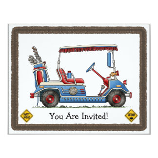 Cute Golf Cart Card