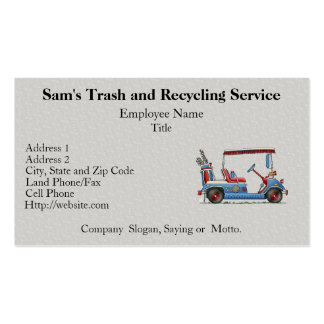 Cute Golf Cart Double-Sided Standard Business Cards (Pack Of 100)