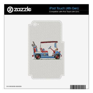 Cute Golf Cart iPod Touch 4G Skin