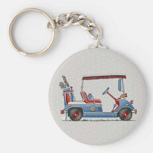 Cute Golf Cart Keychain