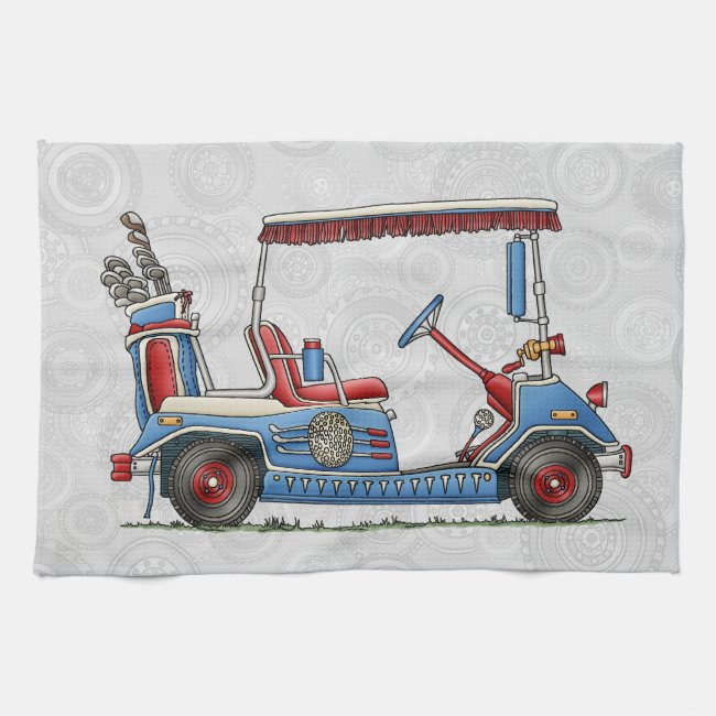 Cute Golf Cart Kitchen Towel