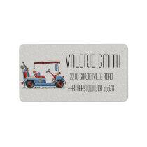 Cute Golf Cart Label
