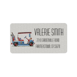 Cute Golf Cart Label