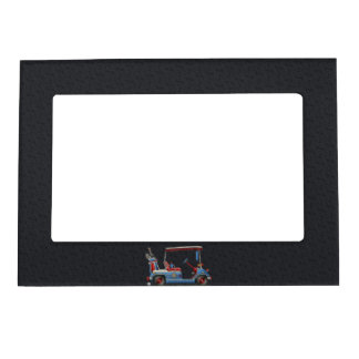 Cute Golf Cart Magnetic Picture Frame