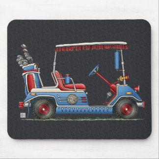 Cute Golf Cart Mouse Pad