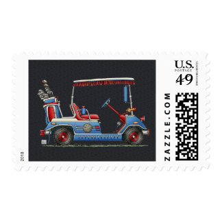 Cute Golf Cart Postage Stamps