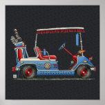 Cute Golf Cart Poster