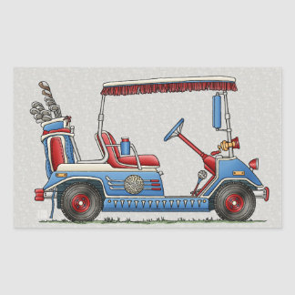 Cute Golf Cart Rectangular Sticker