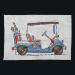 "Cute Golf Cart Towel<br><div class=""desc"">These images of fun things we ride art belong to an ongoing series of everyday things such as airplanes, motorcycles, tractors, pedal cars created by Richard Neuman in his rural studio near McComb, Ohio. Busses, airplanes, motorcycles, tractors, peddle cars, golf carts, bicycles of all kinds have fascinated people of all...</div>"