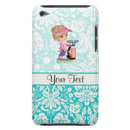 Cute Golf; Damask Pattern iPod Touch Cover