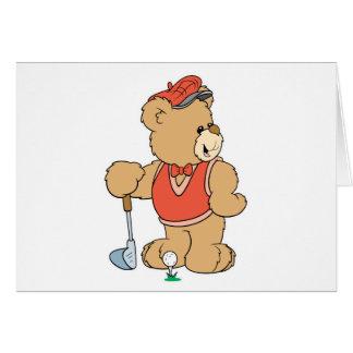 Cute Golfing Golfer Bear Cards
