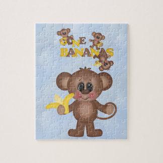 Cute Gone Bananas Monkey Puzzle