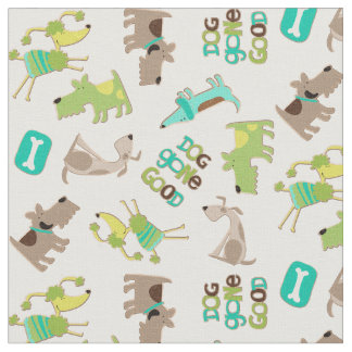 Cute Good Dog Pattern Fabric