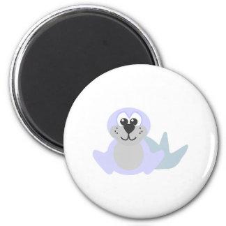 Cute Goofkins baby seal 2 Inch Round Magnet