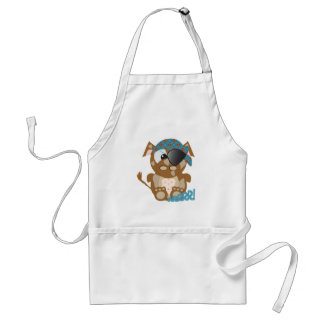 Cute Goofkins brown cow pirate Adult Apron