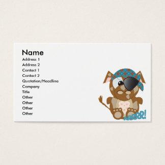 Cute Goofkins brown cow pirate Business Card