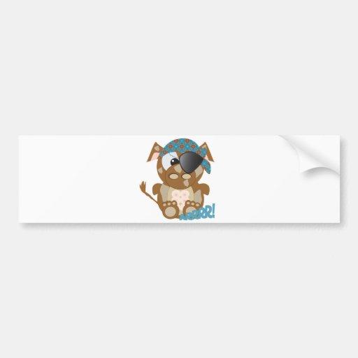 Cute Goofkins brown cow pirate Car Bumper Sticker