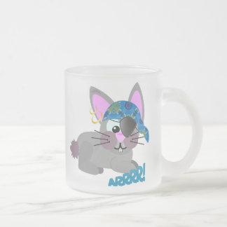 Cute Goofkins bunny rabbit pirate 10 Oz Frosted Glass Coffee Mug