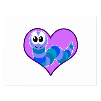 Cute Goofkins caterpillar heart Postcard