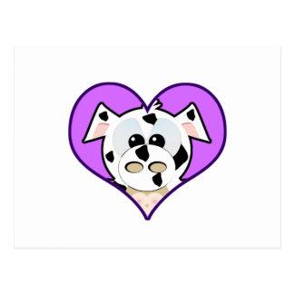 Cute Goofkins cow heart Postcard