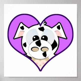 Cute Goofkins cow heart Poster