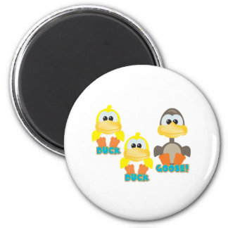 Cute Goofkins duck duck goose 2 Inch Round Magnet