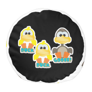 cute goofkins duck duck goose cartoon pouf