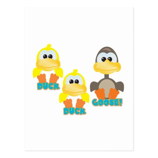 Cute Goofkins duck duck goose Postcard