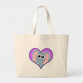 Cute Goofkins elephant heart Tote Bags