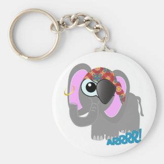 Cute Goofkins elephant pirate Keychain