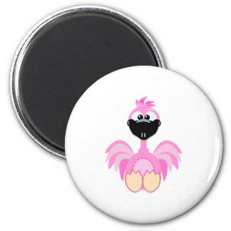Cute Goofkins flamingo 2 Inch Round Magnet
