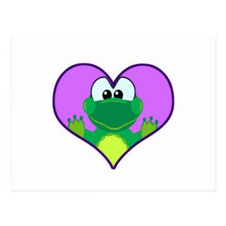 Cute Goofkins froggy heart Postcard