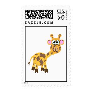 Cute Goofkins giraffe Postage