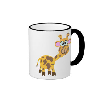 Cute Goofkins giraffe Ringer Coffee Mug