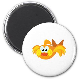Cute Goofkins goldfish 2 Inch Round Magnet