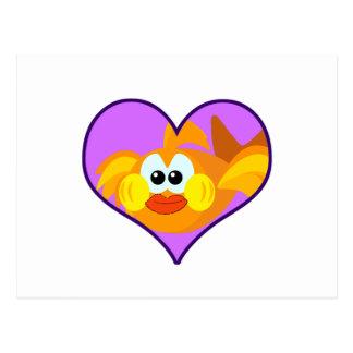 Cute Goofkins goldfish heart Postcard