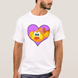 Cute Goofkins goldfish heart T-Shirt