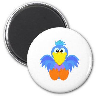 Cute Goofkins goofy bird 2 Inch Round Magnet