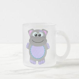 Cute Goofkins hippo 10 Oz Frosted Glass Coffee Mug