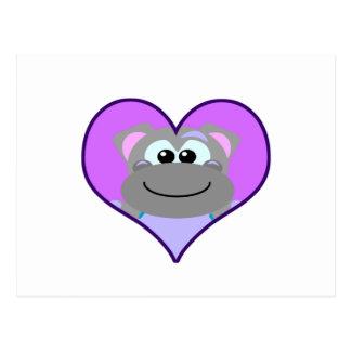 Cute Goofkins hippo heart Postcard
