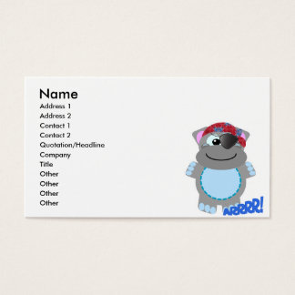 Cute Goofkins hippo pirate Business Card