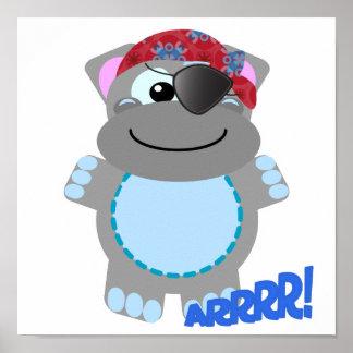 Cute Goofkins hippo pirate Posters
