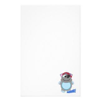 Cute Goofkins hippo pirate Stationery