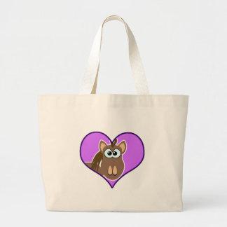 Cute Goofkins horse heart Bag